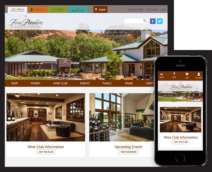 Fess Parker Winery Web Design After